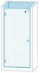Душевое ограждение из стекла с распашной дверью Вариант 1-01