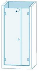 Душевое ограждение из стекла с распашной дверью Вариант 1-02