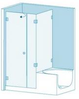Душевая перегородка из стекла с ванной Вариант 7-02