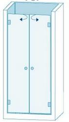 Душевое ограждение из стекла с двумя дверцами Вариант 1-21