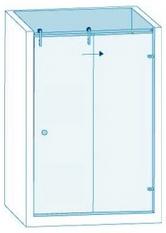 Душевая перегородка из стекла с раздвижной дверью Вариант 1-61