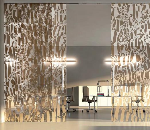 Перегородки из декоративного стекла