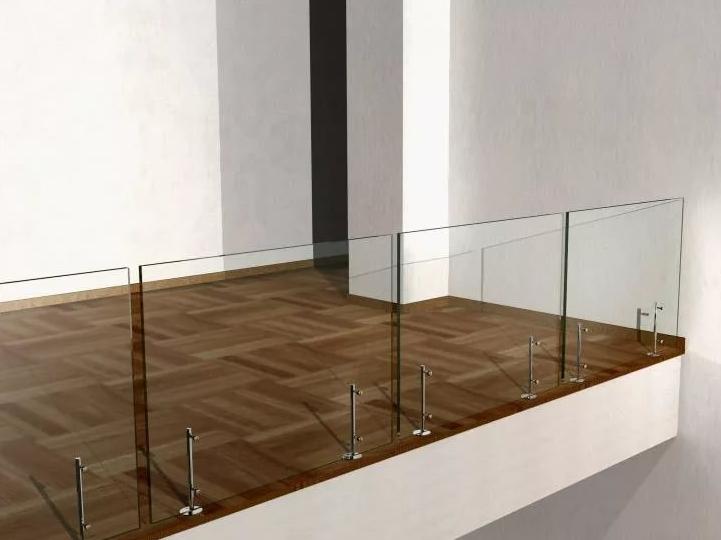 Ограждение на министойках без поручня (Открытое стекло с евро-кромкой)